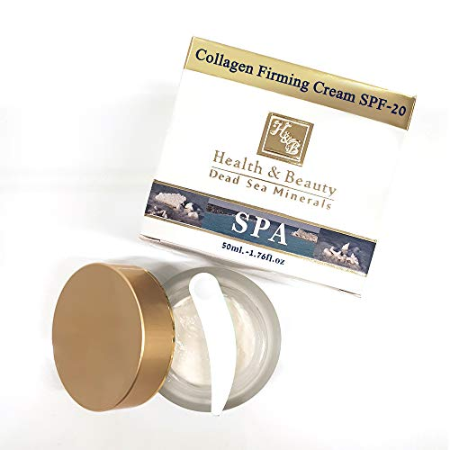 Dead Sea Collagen Face Moisturizer Firming Cream 50ml/1.7 Oz. Anti-Aging Face Smooth Skin Reduce Wrinkles Promotes Tight Enhances Skin Firmness SPF-20