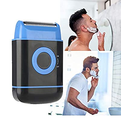Electric Shaver Ultra-thin Foil Pop-up Beard Trimmer AA Battery Power Shaving Razor for Men (Blue) by Betued