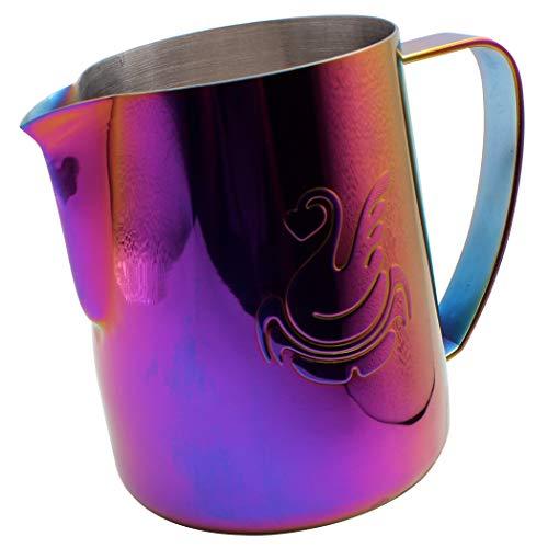 Dianoo Brocco Per Latte Lattiera In Acciaio Inossidabile, Brocca Fumante Espresso, Caffettiera, Tazza Di Latte Art 600ml Multicolore