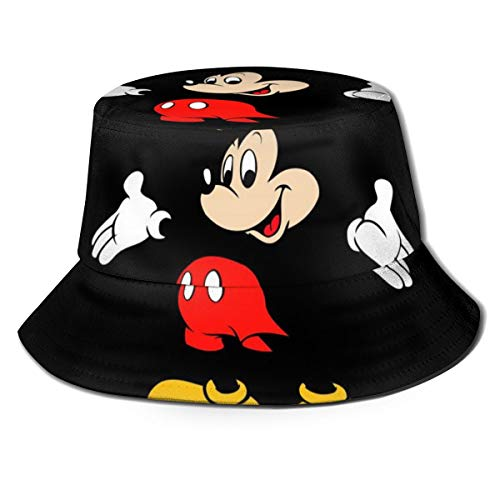 Mickey Mouse Foldable Fishermans Hat Unisex Bucket Hats Uv Protection Sun Cup for Men and Women