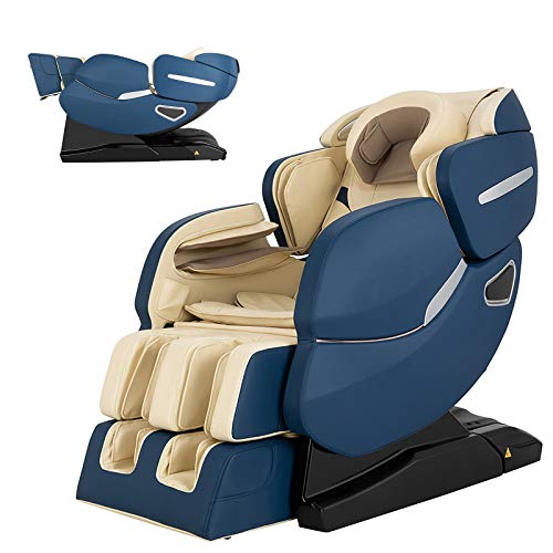 Full Body 3D Zero Gravity Massage Chair with L-Track Recliner And Air Stretch Heated Massage with Heat And Foot Rollers