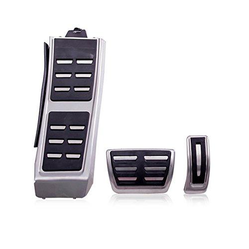 Edelstahl Pedalkappen für A4 B8 S4 RS4 A5 S5 RS5 Q3 Q5 8R SQ5 A6 S6 C7 A7 S7 A8 S8 A8L Fußstütze Bremsen Gaspedal Pedale (AT Pedalkappen)