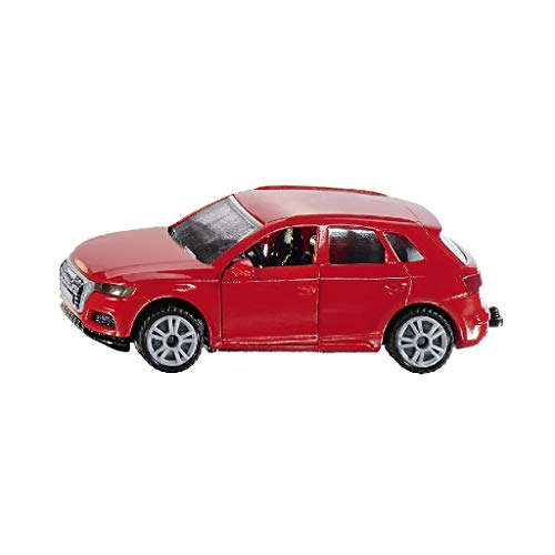 siku 1522, Audi Q5, Metall/Kunststoff, Rot, Spielzeugauto für Kinder, Öffenbare Türen