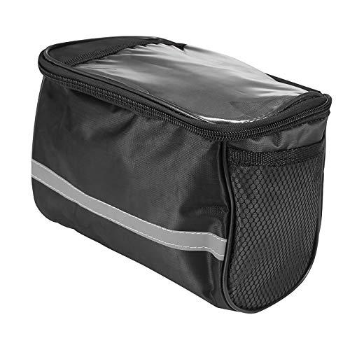 Whuooad Bolsa para manillar de bicicleta, bolsa frontal aislada, bolsa para manillar de bicicleta MTB, bolsa para alforja con tira reflectante, accesorios profesionales para ciclismo