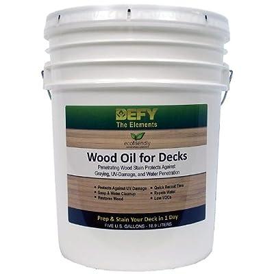 DEFY Wood Oil for Decks, 5 Gallon, Redwood