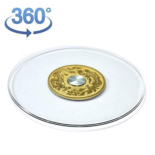F-XW Lazy Susan | Placa Giratoria Redonda de Vidrio Templado de 48-118cm | Grueso 8 mm | Bandeja Giratorio de 360° para Servir y Decorar | Plato Giratoria de Mesa para Cocina