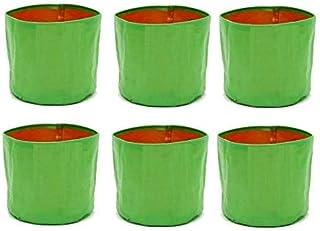 VOOLEX HDPE Grow Bags, 22x22x22cm, 6 Pieces