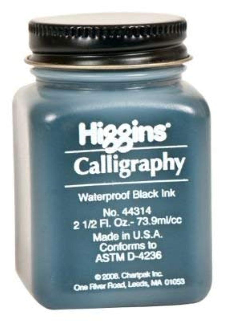 Higgins 44314 HIGG Ink CALLIG.Black 2.5OZ WATRPROFPRM Black