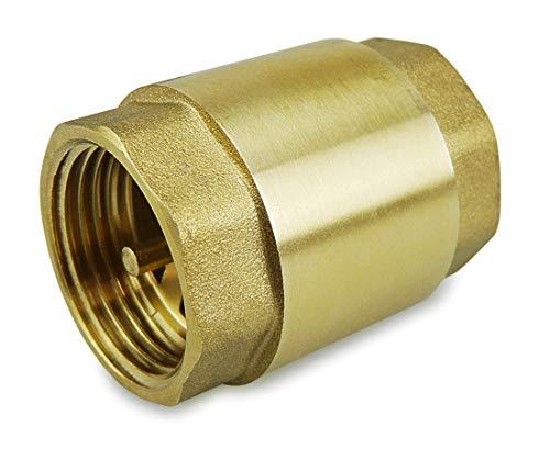 SMARDY Rückschlagventil 1 Zoll IG aus hochwertigem Messing robust, rostfrei und wasserdicht