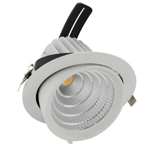 Digilamp 57-X5004D-50W-Lampe LED downlight WH3K orientable Blanc