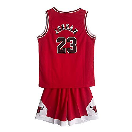 SALLARM Jordan 23 Jersey Chicago Bulls uniformi da basket Abbigliamento sportivo per bambini, Rosso, XXL(160-165)
