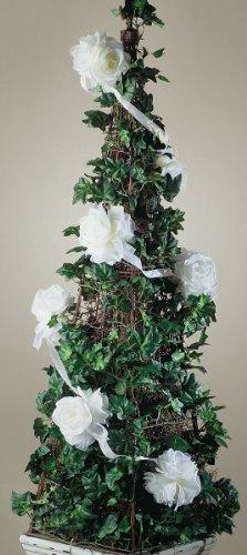 Rose ghirlanda 6 piedi-bianco