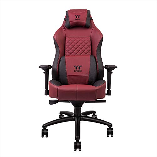 Thermaltake X Comfort Real Leather Burgundy Red Gaming Chair GGC-XCR-BRLFDL-TW