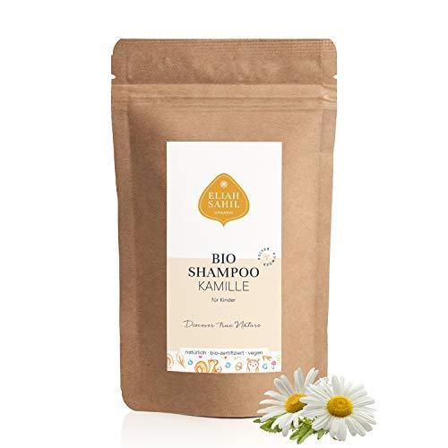 BIO Kinder Pulver Shampoo KAMILLE Re-Fill Bag Nachfüllpackung 250 Gramm 100% Bio zertifizierte Naturkosmetik - Junge und Mädchen - für eine sensible Kopfhaut - ca. 100 Anwendungen