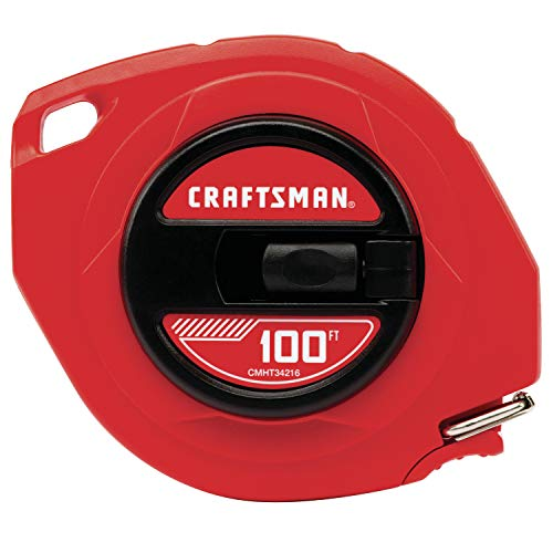 CRAFTSMAN Tape Measure, Steel Blade, 100-Foot (CMHT34216)