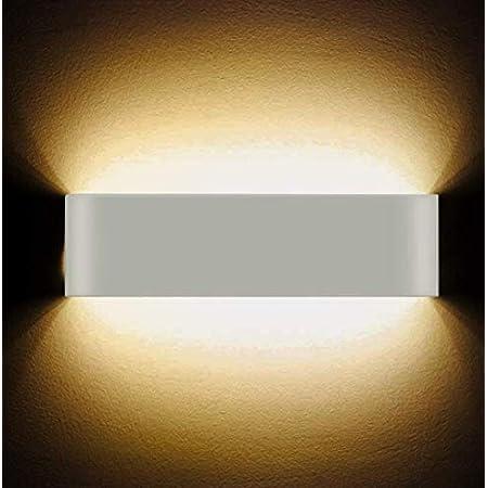 LED Applique murale 12W haute Lumineuse Applique Murale Intérieure Applique murale moderne Lampe Murale Interieur Hall d'entrée Escaliers Hôtels Lumières, Lumière Blanche Chaude