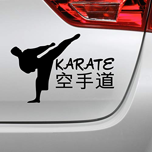Karate Aufkleber Karatekämpfer Kampfsport Japan Autoaufkleber (Rot)