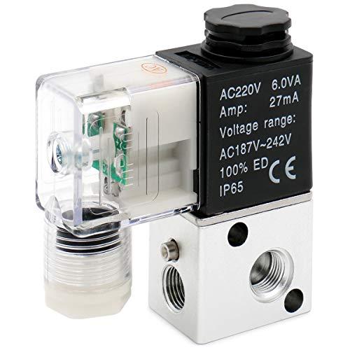 Heschen elettrica pneumatica elettrovalvola 3V1-06 220VAC 6.0VA PT1/8 3/2 vie normalmente chiusa CE