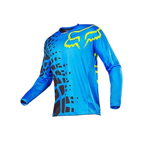 Mikelabo Camiseta de manga larga de ciclismo de motocross para hombre Tops MTB Bike Jersey de alta visibilidad Motocross Enduro Downhill Jersey para Deporte al aire libre Ciclismo Motocross