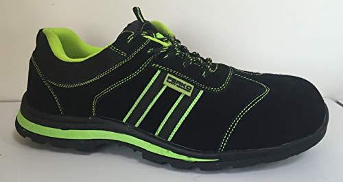 Ferko ZF140-50VF/37 leren schoen zwart S1P SRC composiet teenkap en perforerende binnenzool. Maat 37