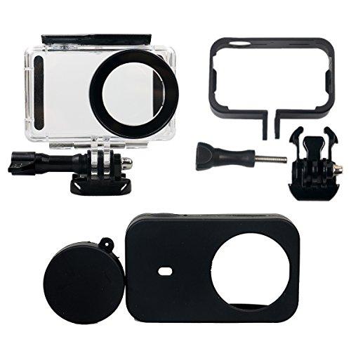 Flycoo Conjunto de 3 accesorios: Carcasa impermeable + marco
