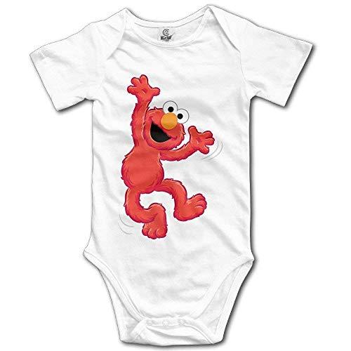WlQshop Muppet Elmo Babybody für Neugeborene, Rot Gr. 12 Monate, mehrfarbig
