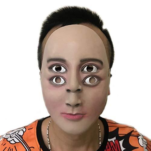 DLH Halloween-Maske, Latex-Maske, Gruselig Und Lebendig, Atmungsaktiv, Halloween-Partyspiel Requisiten