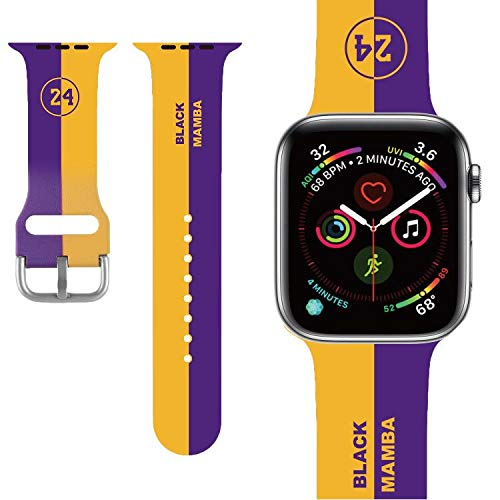 Basketball design Compatible with Apple Watch Band 38mm/40mm/42mm/44mm,Classic Cute Fashion for Kids Men Boys Character Silicone Band Compatible iWatch SE, Series 5,Series 4,Series 3,Series 2,Series 6