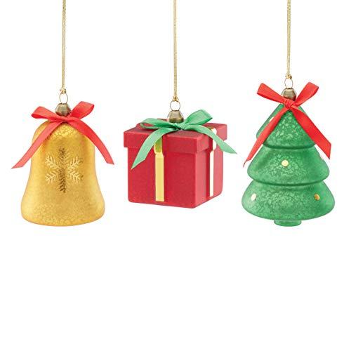 Lenox Bell, Tree & Gift 3-Piece Ornament Set, 0.65 LB, Multi