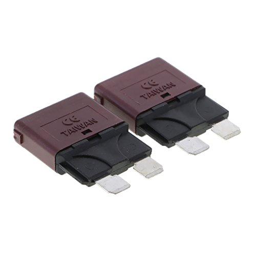 MagiDeal 12V Auto Rückstellbare Mini Klinge Sicherung manuelle Leistungsschalter - 10A, Grün