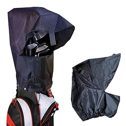 Amy Sport Golftasche Regenschutz Wasserdicht Kapuze Schutz schwarz Pack Durable Lightweight Club Bags Regenmantel für Herren Damen Golfer, 1 x Regenschutz für Golftaschen.