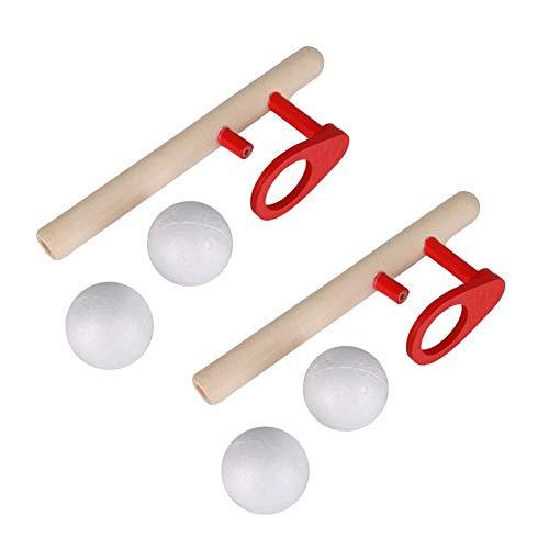 Juegos de pelota flotante, 2 juegos Juego de pelota flotante de madera Favores de fiesta para niños Niños de 3 años en adelante Fiesta de cumpleaños Barbacoa Playa Piscina