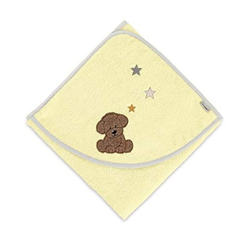 Sterntaler Serviette de Bain Chien Hanno, Âge : À Partir de 0 Mois, 80 x 80 cm, Jaune