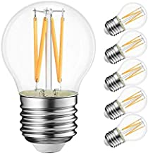 KLED LED Vintage Edison Bulb, Dimmable, G45 4W (30W Equivalent), LED Filament Bulb, 350 Lumen, 2700K (Warm White), Base E2...