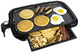 HomeCraft HCGDWD160BK Large 16x10 Non-Stick Griddle With Warming Drawer, Adjustable Temperature Control, Cool-Touch Handles, Perfect For Keto & Low-Carb Diets, Chaffle Tacos, Pancakes, Bacon, Sausage