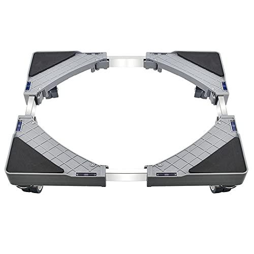 DECARETA Soporte Universal para Lavadora y Secadora Base Ajustable para Lavadora 48~66 cm Altura 10 cm Base para Secadora Soporte para refrigerador para Lavadora, con 1 Destornillador