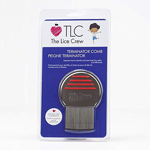 Terminator Lice Comb, Professional Head Lice and Nit Comb, Stainless Steel, Fine Tooth Comb, Lice Treatment for Kids, Head Lice Comb, Lice Removal, Hair Comb