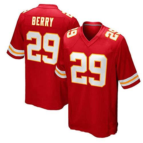 Hhwei 29# Eric Berry Camiseta de Fútbol Americano para Fanáticos, Ropa Deportiva Nombre y Número Personalizados,Rojo,L