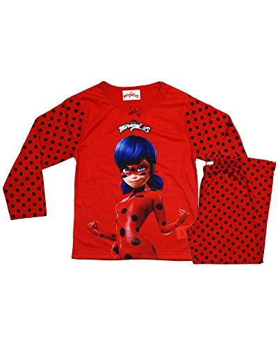 Ladybug Schlafanzug Long Miraculous Gr. 4 Jahre, rot