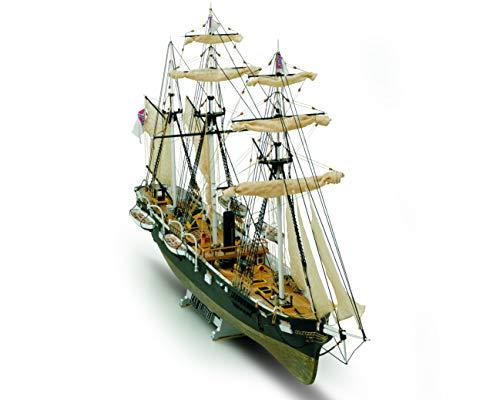 "CSS Alabama - Plank on Bulkhead Ship Model Kit - Scale 1/120 - Length 28"", Height 14"" - Mamoli MV53"