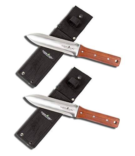 Lowest Prices! Garden Guru Hori Hori Garden Knife for Weeding, Digging, Pruning, and Cultivating - S...