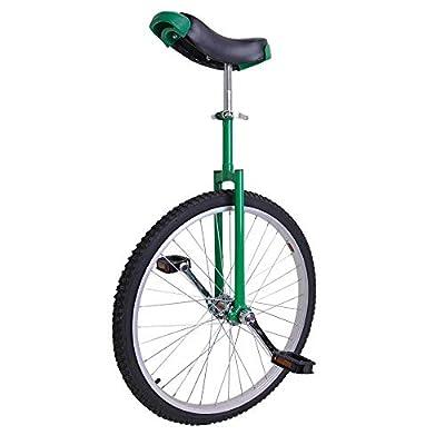 "LiveCreative 24"" Wheel Unicycle Leakproof Butyl Tire Wheel Cycling Exercise Green"
