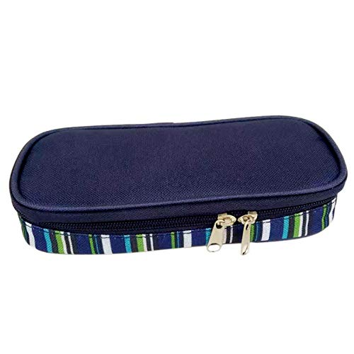 Senmubery Insulin Cooler Travel Case Diabetic Medication Organizer Medicals Cooler Bag Waterproof and Insulation Liner(Navy Blue)