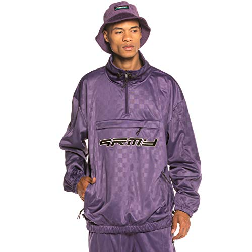 GRIMEY Track Jacket Sighting in Vostok Poly TJ FW19 Purple-XS