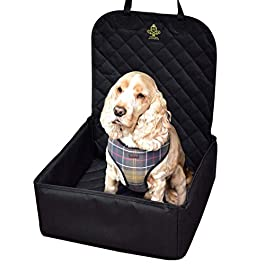 Dog Car Seat with Safety Harness Seat Belt – Pet Puppy Waterproof Travel Dog Car Seat Protector Cover Car Accessories