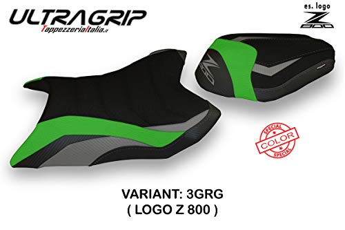 Zadelhoes voor Kawasaki Z800 Mod Corizza Special Color Utragrip behang Italia Grijs - Groen