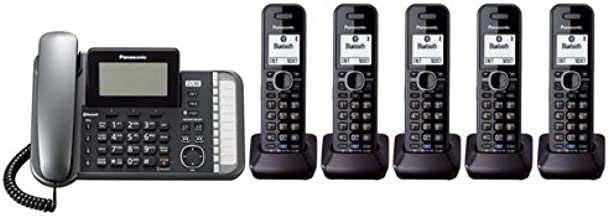 Panasonic KX-TG9582B + 3 KX-TGA950B Corded/Cordless Combination Telephone 2-Line DECT 6.0 System
