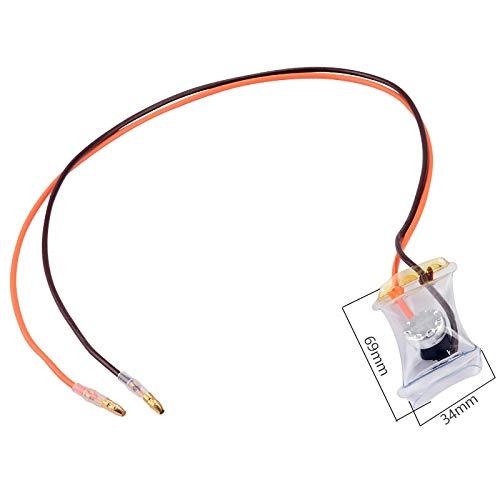 CROSYO 1 UNID AC 250V 10A-7 Grados Celsius 2 Cables (Redondos) Frigoríficos bimetales Frigoríficos Desfrostato Frigorífico Piezas de refrigerador