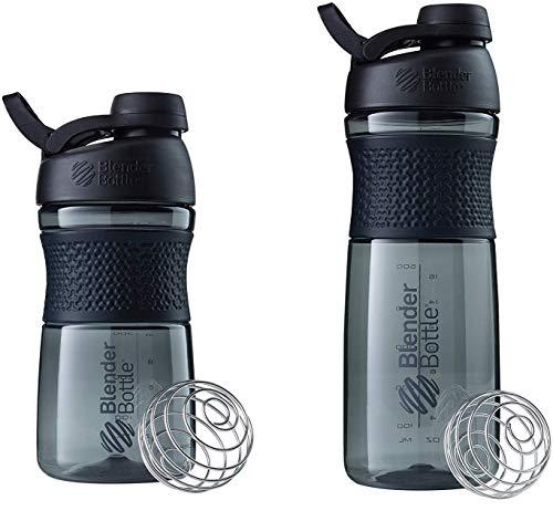 SCS Direct BlenderBottle SportMixer Shaker-Flasche, 568 ml und 71,1 ml, Schwarz, Farben können variieren
