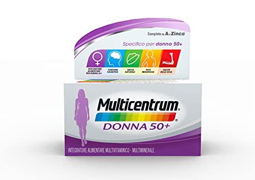 Multicentrum Donna 50+, Integratore Alimentare Multivitaminico-Multiminerale per Donne dopo i 50 Anni